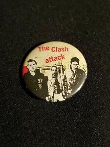 "Vintage rare original ""The Clash - The Clash Attack"" badge from 1979"