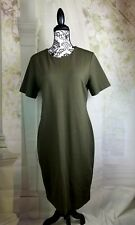 H & M Basic women's short sleeve stretch knit dress size large b15a