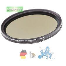 Graufilter 77mm LUMOS variabel vario ND 2 - ND 400 16-fach vergütet SCHOTT-Glas