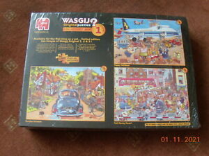 Wasgijy--NEW Puzzles Vol 1 collector's box - (3 x 1000) Limited Edition, NEW!