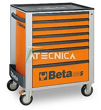 Carrello cassettiera mobile Beta C24S 7/O portautensili 7 cassetti arancio