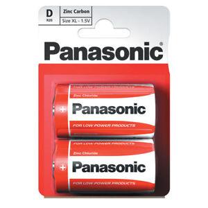 Panasonic D Battery Batteries New Zinc Carbon R20 1.5V