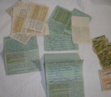 California Fishing license lot trout stamps Vintage