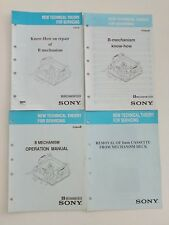 ORIGINALE B MECHANISM VIDEO 8 SONY MANUAL MECHANICAL KNOW-HOW & OPERATION
