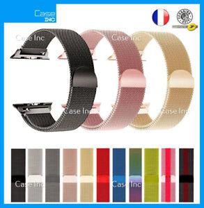 Bracelet Acier Milanais pour Apple Watch 38 40 42 44 mm Serie 7 6 5 4 3 2 1 SE