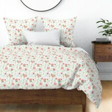 Watercolor Floral Modern Nursery Decor Boho Sateen Duvet Cover by Roostery