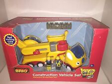 Rare Brio Construction Vehicle set Real Working Crane ages 2 yr+ New