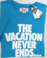NWT Penguin by Munsing Wear Graphic Tee T-Shirt Vacation Never Ends Size S