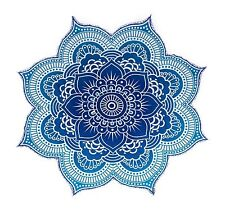 """Large Round Lotus Mandala Tapestry Beach Throw Towel Tablecloth Turquoise 78"""""""