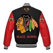 NHL Chicago Black Hawks Rare beautiful Varsity jacket  large XL 2XL