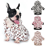 Warm Dog Pajamas Small Large Dogs Winter Clothes Pet Fleece Hoodie Jacket Coat