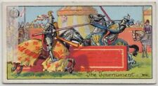 Jousting Trial By Combat Tournament  Tradition And Origin 1920s Ad Trade  Card