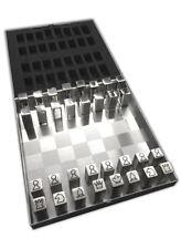 Edelstahl Reiseschach Magnetisch | Metall Schachspiel | Magnetschach | Schach