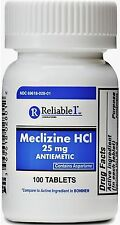 Reliable 1 Meclizine HCL 25mg Tablets 100 ea (Pack of 2)