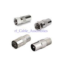 DVB-T T2 TV Tuner Antenna Adapter HDTV F to TV Adapter 4 Kit for BK LED 4K 3D TV