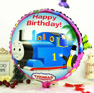 18``Thomas the Tank Engine Party Border Friends Round Foil Balloon