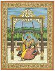 Lord Krishna & Radha Painting Handmade Finest Miniature Detailed Gouache Artwork