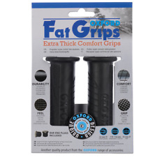 Oxford Fat Grips - Extra Thick Motorcycle Handlebar Grips - Black (OX605)