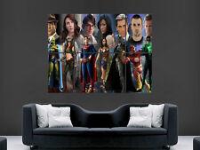 Cartel de la Liga de la justicia de América Superman Batman Imprimir grande gigante fantasía arte