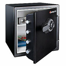 SENTRY SAFE Steel Fire Safe,1.23 cu ft,Black, SFW123CS, Black