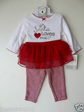 Carter's Baby Girl Two-Piece Holiday Bodysuit and Tutu Leggings NWT 3 Mos G82779