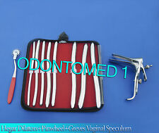 HEGAR DILATOR SOUNDS 8 PCS+ RED PINWHEEL & GRAVES SPECULUM LARGE