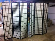 Divider Screens/Panels (2) (black wood, white screen)