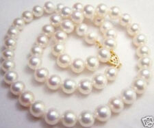 9-10MM NATURAL WHITE SOUTH SEA AAA+ PEARL NECKLACE