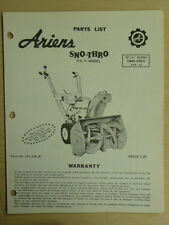 ARIENS SNO THRO 4 H.P. SN# 10M4 04501 & UP PARTS MANUAL ST4 65R