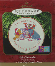 1997 Hallmark Gift of Friendship Winnie the Pooh Plate Keepsake Ornament Disney
