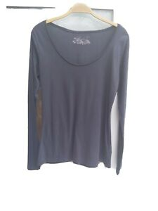 Marks And Spencer Size 12 Blue Long Sleeved Top