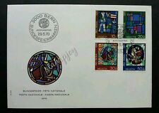 Switzerland Stained Glass Windows Art 1970 Culture (stamp FDC) *fresh condition