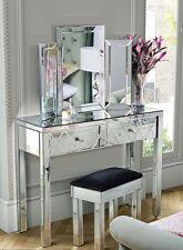 VENEZIANA a specchio per tavolo da toeletta Tripla Pieghevole Da Toeletta Specchio & Sgabello Set