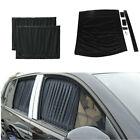 2x Foldable VIP Curtain Sun Visor Shade Shield UV Block Fit For Car Side Windows