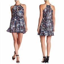 Parker Black Women's Nathan Floral Print Surplice Keyhole Smocked Dress Size S