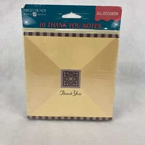 Pack of 10 American Greetings THANK YOU Notes Cards Envelopes Classic Style