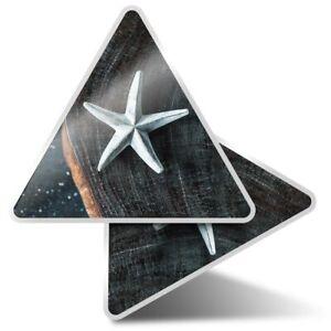 2 x Triangle Stickers  7.5cm - Pretty Star Home Decor Wood  #24559