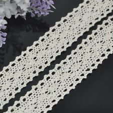 """10Y 1"""" White embroidered cotton trimming Appliques wedding craft cloth L102"""