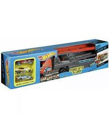 Hot Wheels CDJ19 Mega Hauler Truck, Toy Garage for Diecast Cars With 3 Cars
