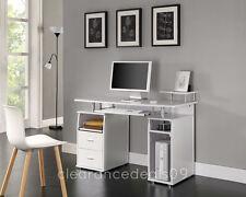 Computertisch PC-Tisch Büro Schreibtisch Weiß, Schwarz oder Walnuss Homeoffice