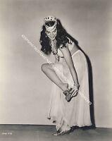 1940's ACTRESS PEGGY SATTERLEE LEGGY BAREFOOT VIRGIN 8x10 PHOTO A-PSAT