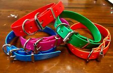 25mm PVC Dog Collar - Waterproof, Tough - Medium / working breed Size