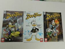 3x 2017 Disney DUCKTALES # 1 Comic ~ Variant A B RI Cover IDW NM ~ UNCLE SCROOGE