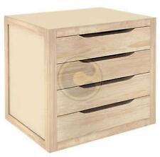 (9268) Cassettiera in legno di pino con 4 cassetti cm 39x30x37,5h per arredo