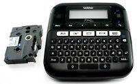 NEW Brother P-Touch PTD210 12mm Label Maker Multiple Font Styles, Black