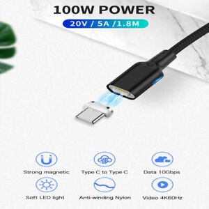 100W 20V 5A Super Schnell Ladekabel Magnet Samsung OPPO Huawei Type C auf USB C