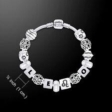 Leo Astrology Bead .925 Sterling Silver Bracelet Peter Stone
