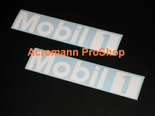 "2x 8.5"" 21.6cm MOBIL One white decal sticker 1 motor oil DTM porsche vw car audi"