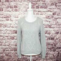 INTERMIX Women's Crew Neck Pullover Sweater cable knit Acrylic Wool Sz P / S