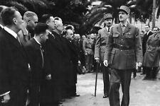 Photo WW2 - Généraux de Gaulle et Giraud à Alger en 1943